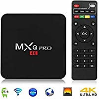 MXQ Pro TV Box Android 7.1, Smart Tv Box Quad Core 4K Ultra HD 1G/8G 64Bit Set Top TV Box with WiFi HDMI DLNA