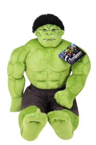 Jay Franco Avengers Plush Stuffed Hulk Pillow Buddy - Super Soft Polyester Microfiber, 23 inch (Official Marvel Product)