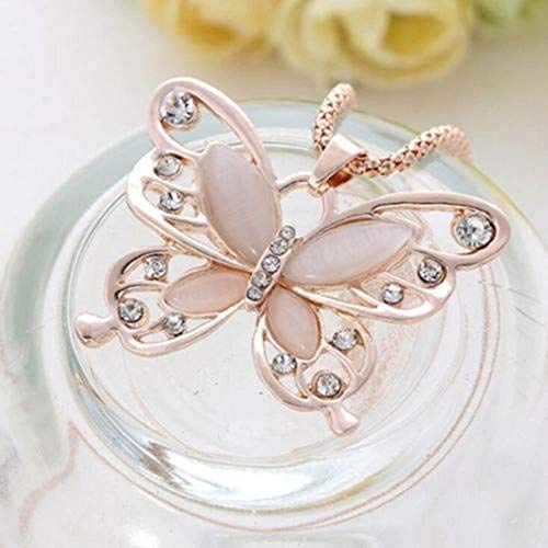 (Long Enamel Crystal Women Party Fashion Rose Pendant Necklace Chain Sweater)