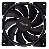 Florenceenid 12cm RGB Light PC Cooling Fan 4 Pin PWM Quiet PC Case Chassis Fan