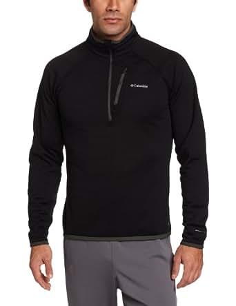 Columbia Men's Grid Grit 1/2 Zip Jacket, Black, Medium