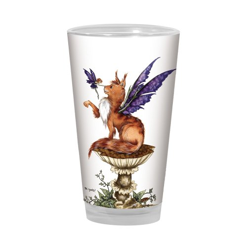 Tree-Free Greetings PG02610 Amy Brown Pint Glass, 16-Ounce, Fantasy Be Good Cat and Fairy Artful Alehouse for $<!--$24.39-->