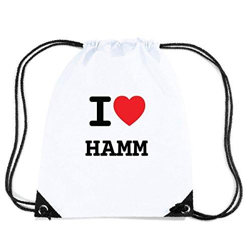 JOllify HAMM Turnbeutel Tasche GYM968 Design: I love - Ich liebe EUgDw