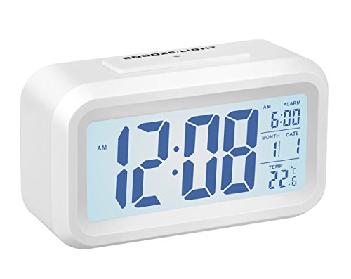 Alarm Clock,Gabone Battery Operated with Large Lcd Display T