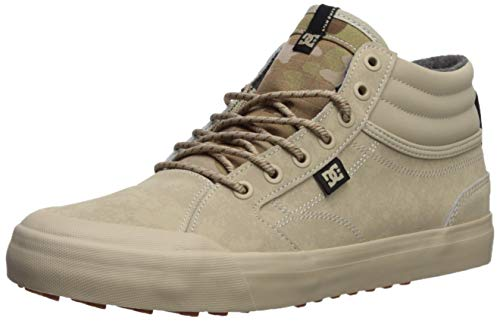 DC Men's Evan Smith HI WNT Skate Shoe tan camo 9 D M US ()
