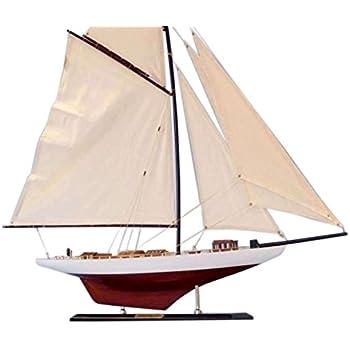 "Hampton Nautical  Decorative Columbia Model Sailing Yacht 35"" Limited - Model Ship - Nautical Home Decorating Ideas Toy Figure"