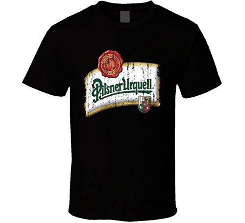 Pilsner Urquell Premium Beer Cool Worn Look Tshirt S Black (Premium Pilsner)