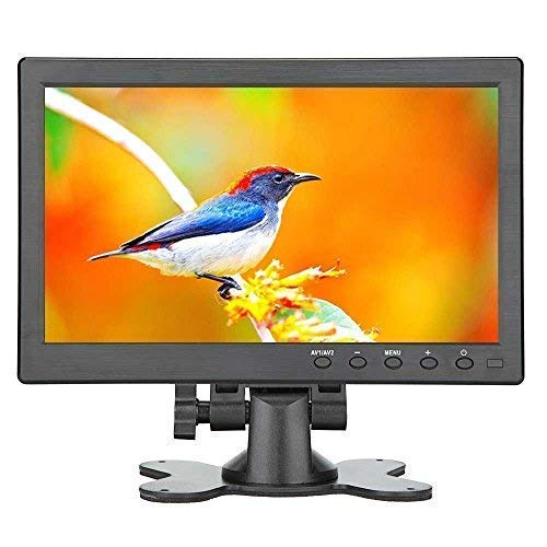 Loncevon-10.1 inch Small Portable Laptop Computer Monitor with HDMI VGA Port; Raspberry pi Display Screen Monitor ; Video HDMI Monitor HD 1024x600 - Build with Dual Speakers, MP5 USB Port, Remote