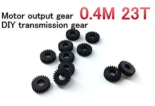 Fevas 5PCS 0.4M 23T Motor Output Gear, DIY Transmission Gear ()