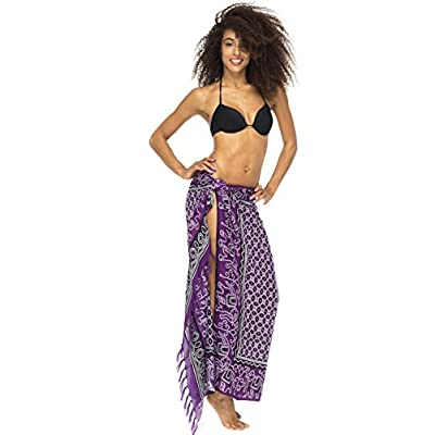 b9955d2b95 Back From Bali Womens Sarong Wrap, Beach Swimsuit Cover Up - Elephant Queen  with Coconut