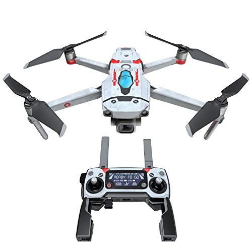 Red Valkyrie Decal Kit for DJI Mavic 2/Zoom Drone - Includes 1 x Drone/Battery Skin + Controller Skin
