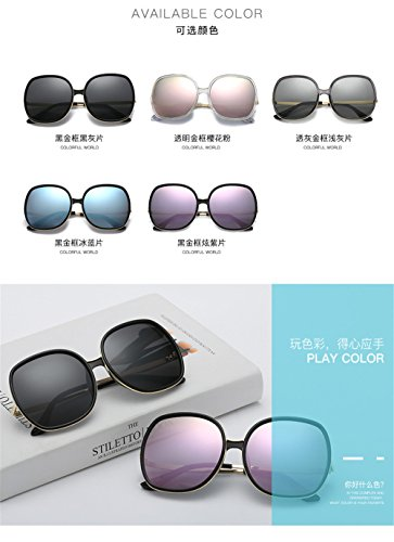 Oro de Unidos Negro Nuevas gafas de Box de Big tendencia gafas sol sombra sol los Gafas Pedazo Azul Bastidor polarizador Estados de y sol Hielo Europa mujer de de Gafas S4SrA8wq