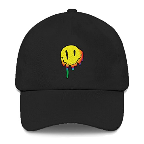 Tcombo Melting Smiley Face Dad Hat (Black)