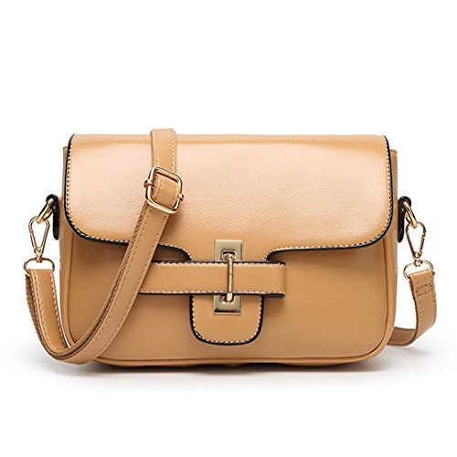 Bagoddess Ladies Crossbody Bag Leather Elegent Inspired Shoulder Purse Small Satchel(c6)