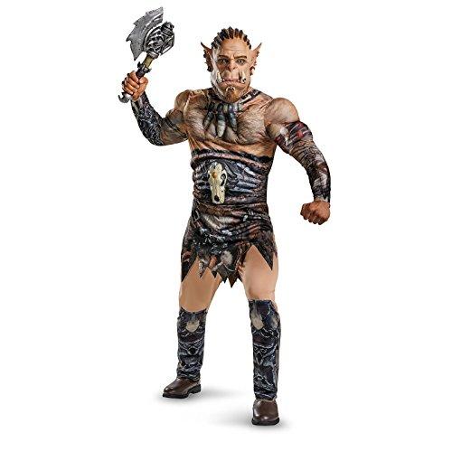 Disguise Men's Warcraft Durotan Muscle Costume, Multi, X-Large