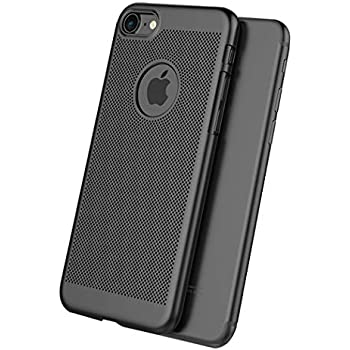iPhone 7 Case,Lightweight, Scratch Resistant,Breathable, Compatible with iPhone 7 (NOT Plus) - Black