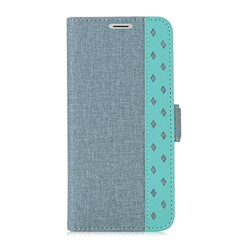 Galaxy S9 Wallet Case, ProCase Folio Folding Wallet Case Flip Cover Protective Book Case Cover for Galaxy S9 2018 Release, with Card Holders and Kickstand - Teal