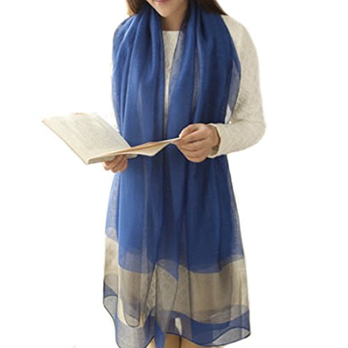 Luxurious Women Charmeuse Light Silk Long Scarf Shawl with Hand Rolled (Long Rolled Edge Snap)