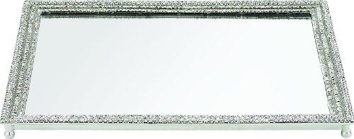 Olivia Riegel Swarovski Crystal Pavé Mirrored Vanity Tray by Olivia Riegel