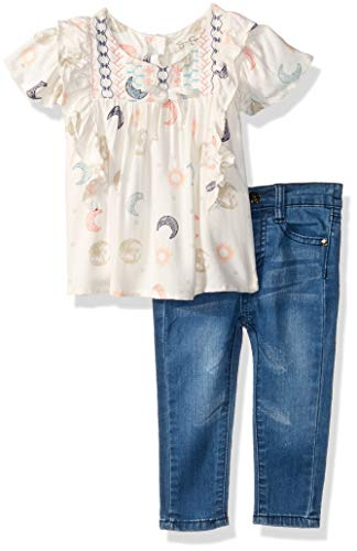 Jessica Simpson Baby Girls Flutter Fashion Top and Denim Jean Set