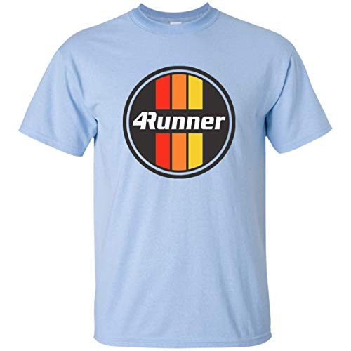 Men's Toyota 4Runner T-Shirt Retro Logo Racing Stripes Graphic Tee Truck (Light Blue, -