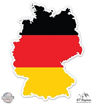 Map Of Germany To Color.Amazon Com Germany Map Flag Country Shape Vinyl Sticker