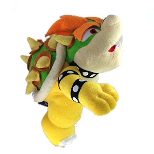 TinTek® 10'' Super Mario Brothers Standing King Bowser Koopa Soft Stuffed Animal Plush Doll Figure Toy 10 Inches by TinTek