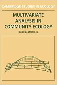 Amazon Com Multivariate Analysis In Community Ecology