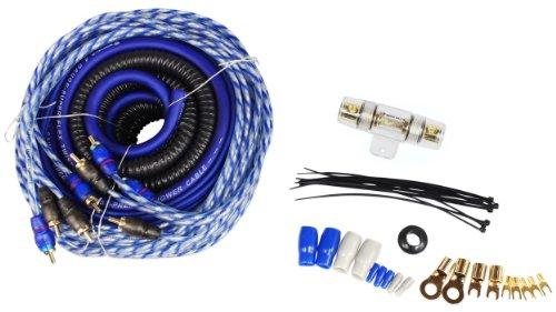 Rockville RWK42 4 Gauge 4 Chan Car Amp Wiring Installation Wire Kit (2) RCA's American Accessories 4 Gauge