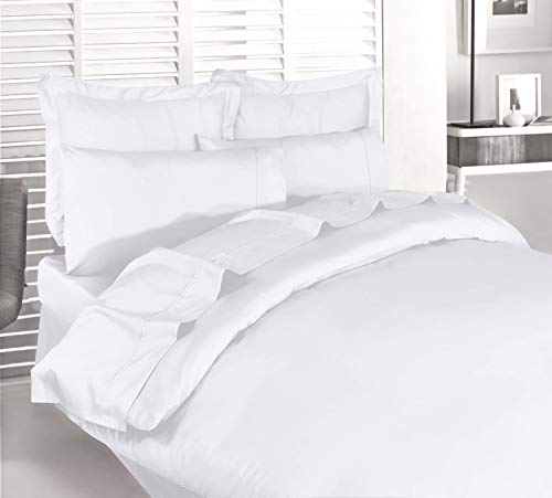 Utopia Bedding 3pc Duvet Cover Set with 2 Pillow Shams, (Queen White)