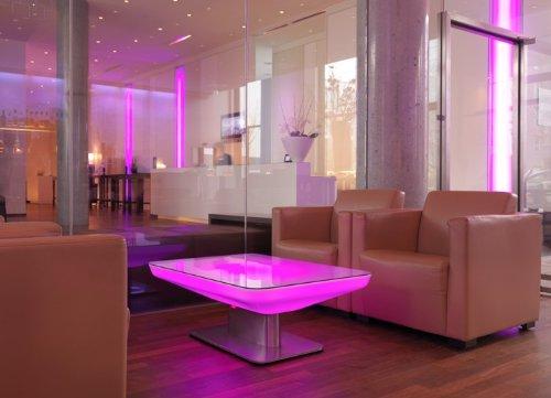 Couchtisch Studio 45 LED Pro Wohnzimmertisch Leuchttisch by Moree, Farbsteuerung:USB-Steuerung