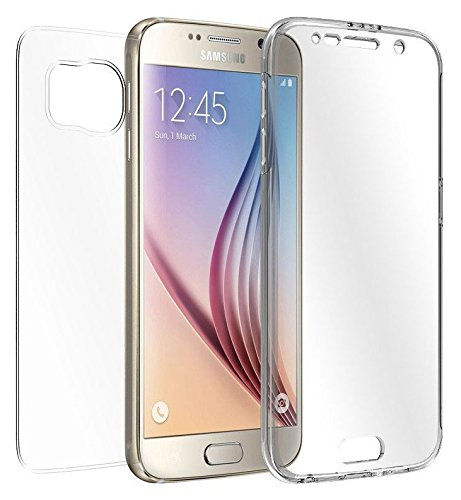 MAX TRANSPARENT CLEAR CASE SCREEN GUARD PROTECTOR TPU SLIM COVER FOR SAMSUNG GALAXY S6 PHONE (SM-G920, Verizon AT&T Sprint T-Mobile Cricket US Cellular Boost Mobile Unlocked) ()