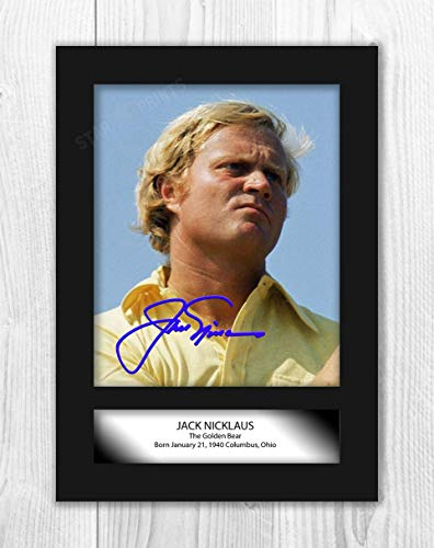 Engravia Digital Jack Nicklaus (2) Reproduction Autograph Poster Picture Photo A4 Print(Unframed)