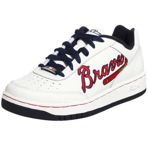 (Reebok Men's MLB Braves Clubhouse Oversize Sneaker,White/Red/Navy,12 M)