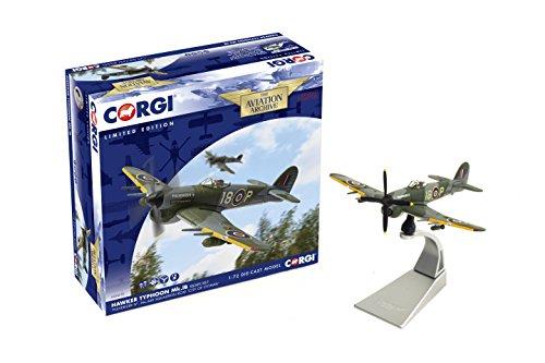 (Corgi AA36510 BAE Systems PLC Hawker Typhoon lB RB389/I8-P Pulverizer IV No.440 Sqn RCAF Model)