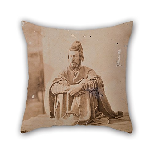 [PaPaver Cushion Covers Of Oil Painting Francisco Laso - Self Portrait In Native Costume For Seat Home Office Gf Home Valentine Dance Room 16 X 16 Inches / 40 By 40 Cm(2] (King Triton Costume Ideas)