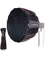 LAOFAS U70 Umbrella Softbox 70cm 27.5Inch, 16 Rods Deep Parabolic Quick-Folding Quick -Setup with Bowens Speedring Mount, for Aputure 120D II 300D II Godox SL-60W SL-150W FV150 FV200 AD300PRO and Other