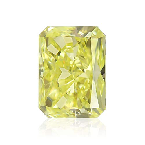 Leibish & Co 1.01Cts Fancy Yellow Loose Diamond Natural Color Radiant Cut GIA Certificate