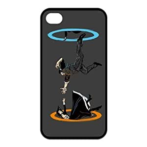 AZA RUBBER SILICONE Case For Ipod Touch 4 Cover , Supernatural Protective RUBBER iPhone Case-Black/White