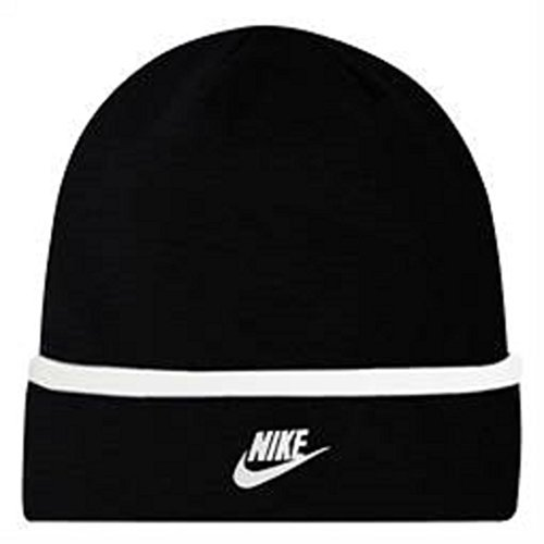 Nike Swoosh Logo Toddler Boys 4/7 Roll Cuff Beanie Knit Hat Black