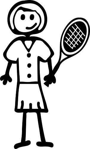 Amazon Com Stick Family Lady Tennis Sticker White Die Cut Decal