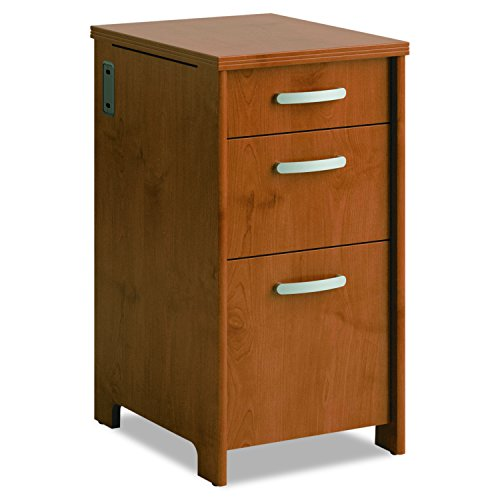 Bush Furniture Envoy 3 Drawer File Cabinet in Natural Cherry
