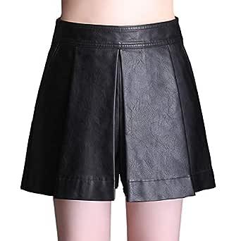 E-Girl FS625 Falda Club Mini Short Grande Cuero PU Negro 46 EU 4XL ...