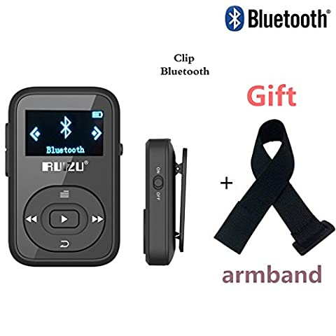 DeeFec Portable Clip Sport Bluetooth MP3 Player 8GB Lossless Sound Music Player with FM Radio Voice Recorder Supports Micro SD Card up to 64GB + Free Sport Armband (Armband Music Player)