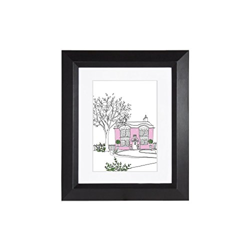 EDGEWOOD Lakewood 8x10 Black photo frame with mat for 5x7 picture or 8x10 photo without mat