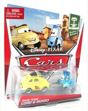 Disney 2013 Pixar Cars Race Team Luigi and Guido 1:55 Scale for $<!--$9.99-->