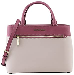 Michael Kors Women's Hailee Medium Leather Satchel Crossbody Bag Purse Tote Handbag