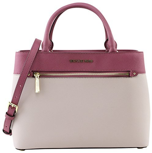MICHAEL Michael Kors Women's HAILEE Medium Satchel Leather Handbag