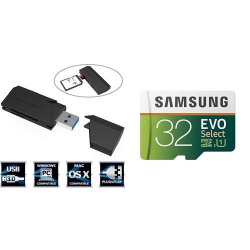 32gb-evo-select-memory-card-and-sabrent-superspeed-2-slot-usb-30-flash-memory-card-reader