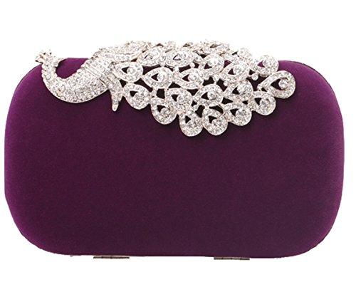 Shell Bag Mooncolour Suede Luxury Purple Mooncolour Luxury Evening Wallet xr0w0n7q